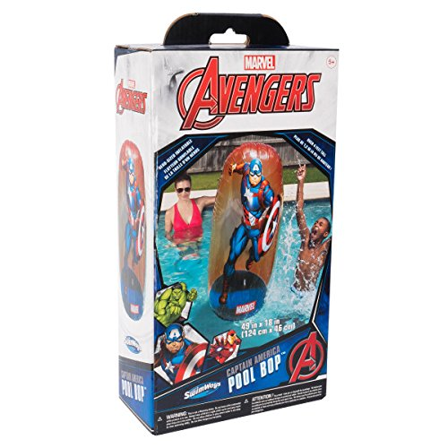 SwimWays Marvel Avengers Inflatable Pool Bops - Captain America - http://coolthings.us