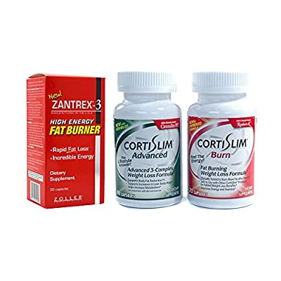 Basic Research Zantrex-3 High Energy Fat Burner 56 ea and Cortislim Advanced Burn Stack