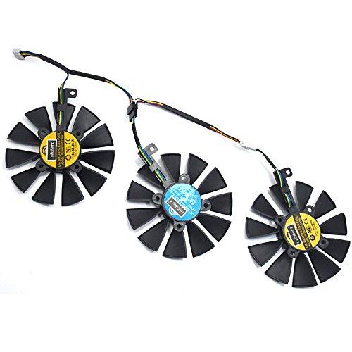 inRobert PLD09210S12HH Video Card Cooling Fan For ASUS STRIX R9 390 X 390 RX480 RX580 GTX 980Ti 1060 1070 1080 Graphic Card (Fan-3pcs)