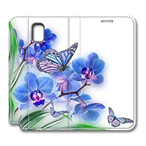 Brain114 Fashion Style Case Design Flip Folio PU Leather Cover Standup Cover Case with Butterfly 12 Pattern Skin for Samsung Galaxy Note 3