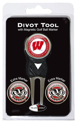 NCAA Wisconsin Badgers Divot Tool Pack With 3 Golf Ball - Wisconsin Outlets