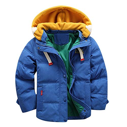AMSKY Newborn Baby Clothes Boy,Kids Baby Girl Boys Winter Hooded Coat Cloak Jacket Thick Warm Outerwear Clothes,Classic Halloween,Blue,150