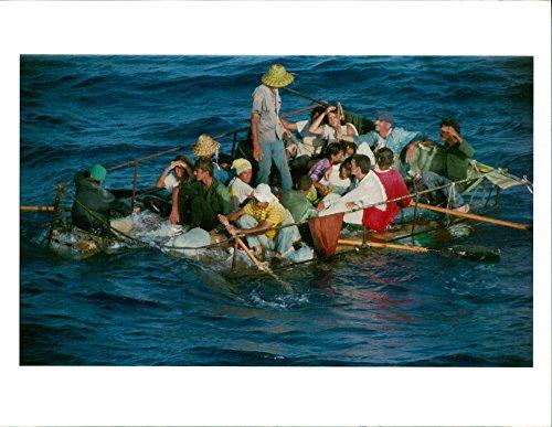 Vintage photo of Cuban exile
