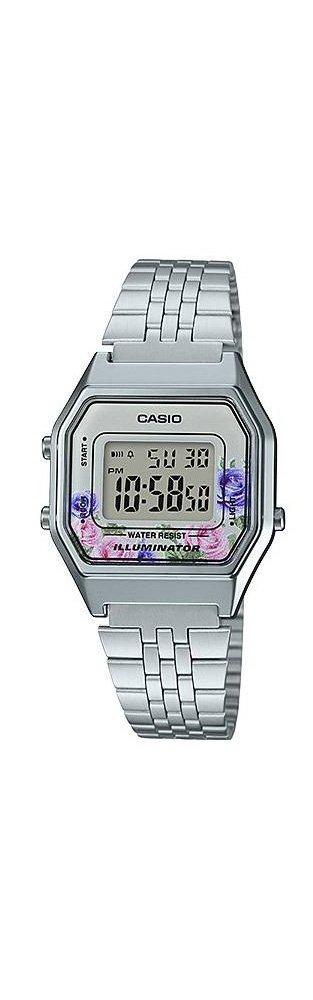 Casio LA680WA-4C Women's Vintage Floral Dial Alarm Chronograph Digital Watch by Casio