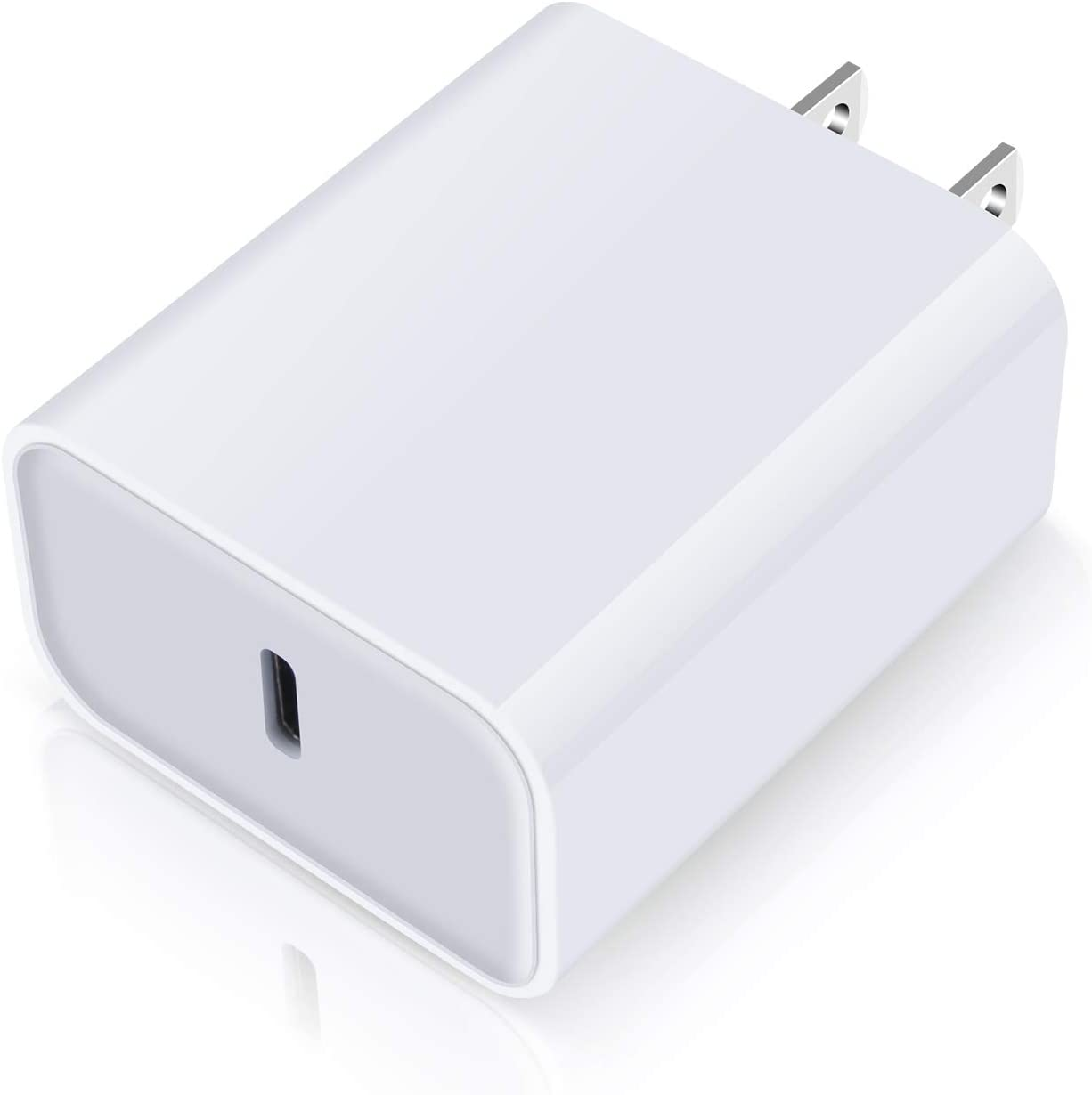 USB-C Charger for iPhone, 18W Fast PD Charger Power Adapter, USB C Plug Block Brick Box Compatible for iPhone SE/12/11 Pro Max X 8 Plus,Airpods Pro,MacBook,iPad Pro/Air/Mini,Samsung Galaxy S20,LG K52