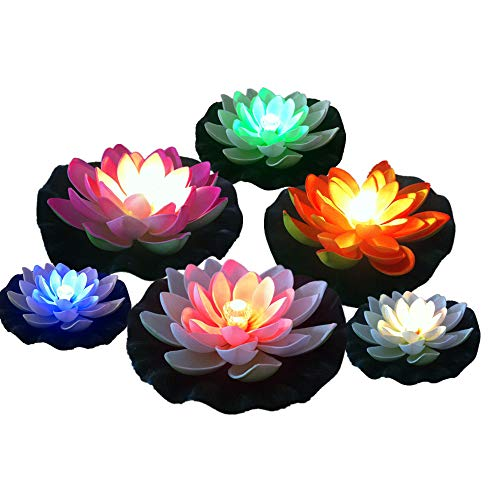 Floating Led Lily Lights