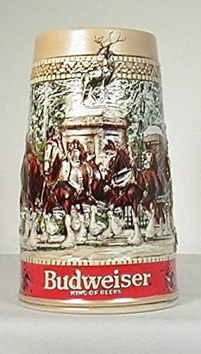Holiday Stein Budweiser - Budweiser 1987 Anheuser-Busch Collector Series