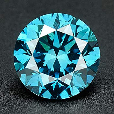 Amazon Com Certified 1 5 Mm 0 015 Cts Natural Loose Diamonds Fancy Blue Color Round Brilliant Cut Si3 I1 Clarity 100 Real Diamonds By Indigems Jewelry