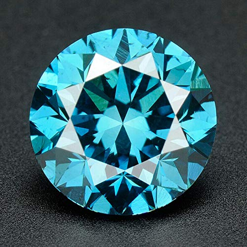 CERTIFIED 2.2 MM / 0.045 Cts. Natural Loose Diamonds, Pack of 100, Fancy Blue Color Round Brilliant Cut VVS1-VVS2 Clarity 100% Real Diamonds by IndiGems ()