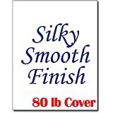 """Silky Smooth White Cardstock for Inkjet & Laser Printers (8 1/2"""" x 11"""") - Heavyweight 80lb Cover (50 Sheets)"""
