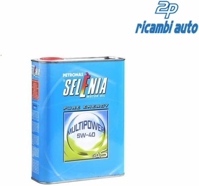 - Selenia - Aceite para motor Multipower Gas 5W40, 2 litros