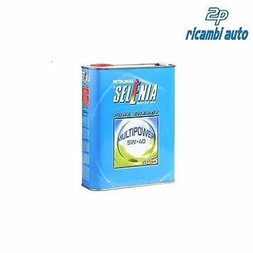Selenia - Aceite para motor Multipower Gas 5W40, 2 litros: Amazon.es: Coche y moto