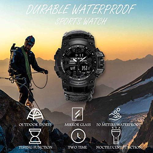 Amazon.com: wejie Reloj de pulsera de supervivencia, reloj ...