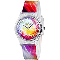 Ovvel Girls Watch – Pretty and Cute Kids Wristwatch with Teaching Analog Display Time Teacher - Japanese Quartz Movement - Sparks