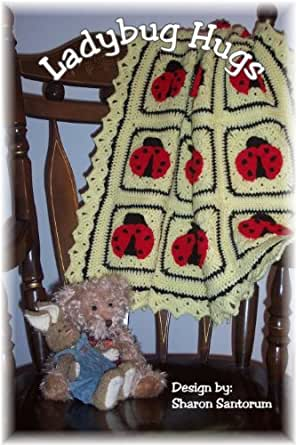 Crochet Patterns On Amazon : Ladybug Hugs Baby Afghan Crochet Pattern - Kindle edition by Sharon ...