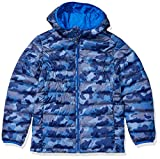 Amazon Essentials Boys' Lightweight Water-Resistant Packable Hooded Puffer Jacket