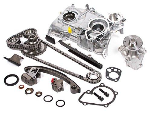 Nissan 240sx Timing Chain - Evergreen TK3003WOPT Fits Nissan KA24DE DOHC 16V Timing Chain Kit w/Water Pump & Oil Pump