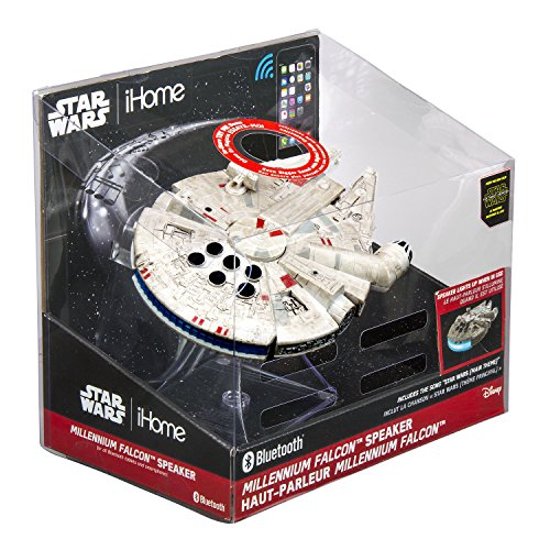092298925394 - Star Wars Bluetooth Speaker - The Force Awakens Han Solo's Millennium Falcon Lights Up When In Use carousel main 1
