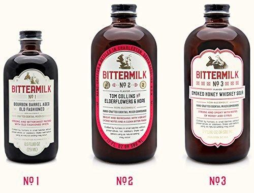 Bittermilk Cocktail Mixer Bitters Variety Combo Pack - Six Bottles Includes Bittermilk No.1 No.2 No.3 No.4 No.5 No.6