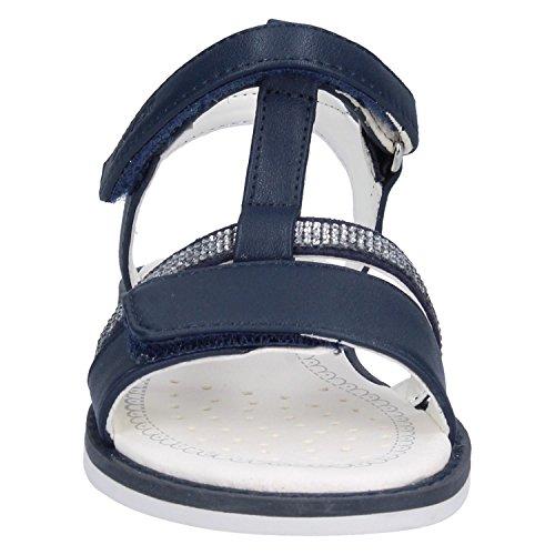 Geox Jr Sandal Giglio B, Sandalias con Tira Vertical Para Niñas Azul