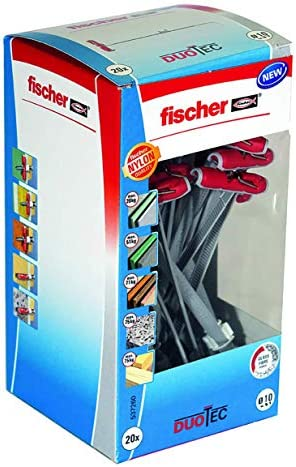 Fischer 537260 Taco Duotec 10 diy/Caja 20 Ud, Set Piezas: Amazon ...