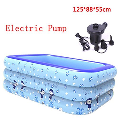 LQQGXL,Bath Inflatable bathroom pool padded insulation baby swimming pool bathroom plastic folding tub barrel Inflatable bathtub ( Color : Electric Pump ) by LQQGXL