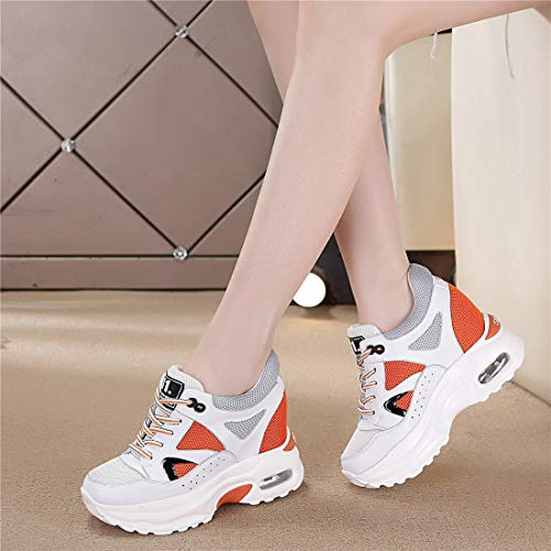 B Basses Tqgold® De Femmes Baskets 9 Gym Compensées Sport Jogging Chaussure Cm Sneakers Fitness arancia wwOvaq