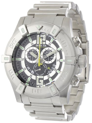 Invicta Men s 0356 II Collection Chronograph Black Dial Stainless Steel Watch