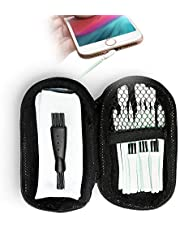 PortPlugs Cell Phone Cleaner Kit and Brush Set, Includes Carry Case, Port Cleaning Tools Compatible with All iPhones, Android Smartphones, Tablets, AirPods (24 Pieces)