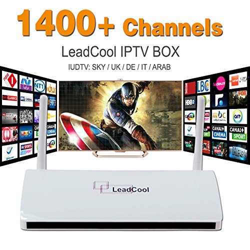 LeadCool Android IP TV1400 Arabic, Europe Sky IPTV Channels. NO MONTHLY PAYMENTS, Box Receiver, no FEES.. pay once enjoy for life (Iptv Android Arabic)