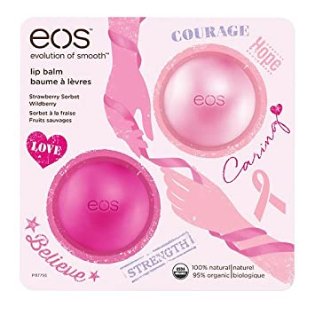 EOS Breast Cancer Awareness Lip Balm, Strawberry Sorbet & Wildberry 2 ea (Pack of 3) Ponds B3 Aclarant Oily Skin 200 gr - Aclarante Piel Grasa (Pack of 12)