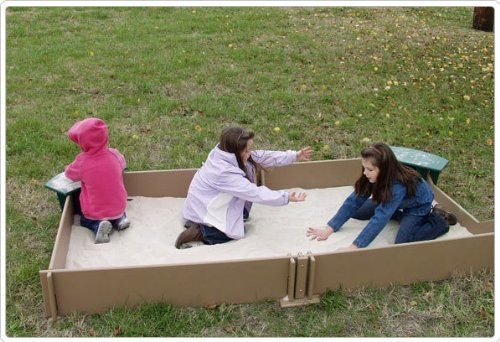 Sport Play 902-833 Tot Town Large Sandbox by Sports Play Equipment