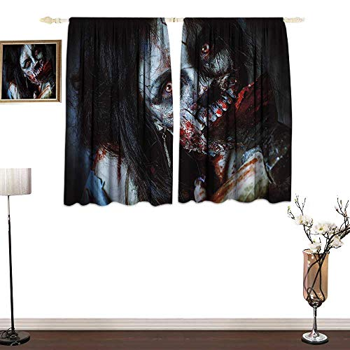 one1love Light Luxury high-end Curtains Zombie Decor Scary