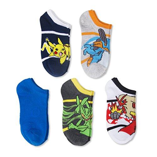 Boys-Pokemon-Pikachu-5pk-No-Show-Socks-6-85