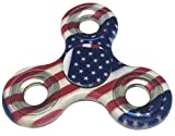 NEW 2017 Durable High Speed American Flag Metal Fidget Spinners Toy for relieving ADHD, Anxiety, Boredom EDC Tri-Spinner Fidget Toy Smooth Surface Finish Ultra Durable Non-3D printed Tri by Harmony101