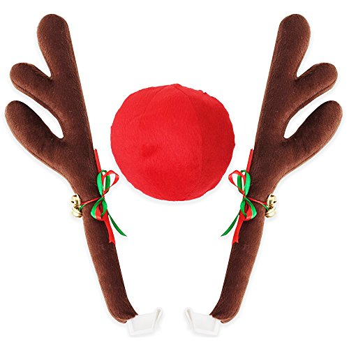 BASEEING Car Window Christmas Decoration Reindeer Car Decoration