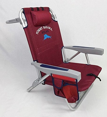 Tommy Bahama Red Backpack Cooler Beach Chair 2016