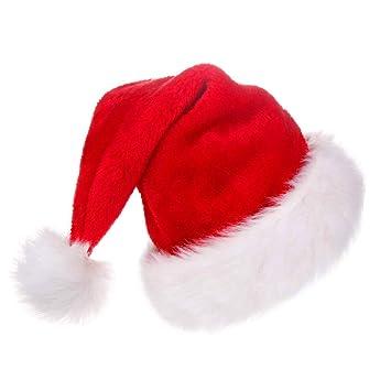 Funhoo Cappello da Babbo Natale Peluche per la Maggior Parte degli Adulti e4656483fd53