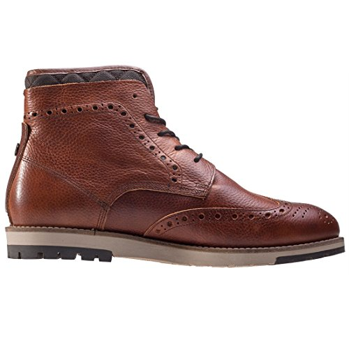 Mens Barbour Cowan Cognac Leather Brogue Smart Ankle Leather Boots Cognac m8YU70r