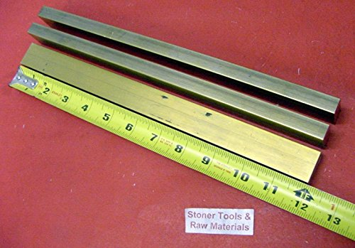 3 Pieces 1/2'' x 1'' C360 BRASS FLAT BAR 12'' long Solid .500'' Mill Stock H02 by Stoner Metals