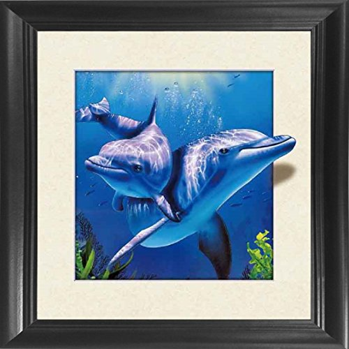 Miami Dolphins Framed Wall (Dolphins Framed 18.5x18.5