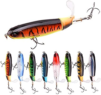 Whopper Plopper Fishing Lures 9cm 11cm Hard Baits Soft Rotating Tail Plopper New