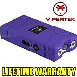 VIPERTEK PURPLE VTS-880 60 MV Rechargeable Police Mini Stun Gun + Taser Case