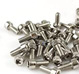Pack of 10 Hexagon 5mm M5 Screws for MTB Mountain Bike Bicycle Cycling Bottle Cage Holder Handlebar Silver
