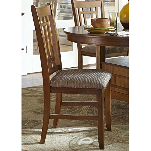 Liberty Furniture INDUSTRIES 25-C8600S Santa Rosa Rub Dining Side Chair, 18