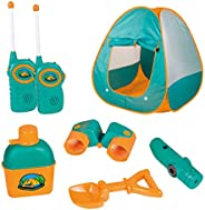 ToyVelt Kids Camping Tent Set Toys - Includes Pop Up Play Tent, Telescope, 2 Walkie Talkies, and Full Camping