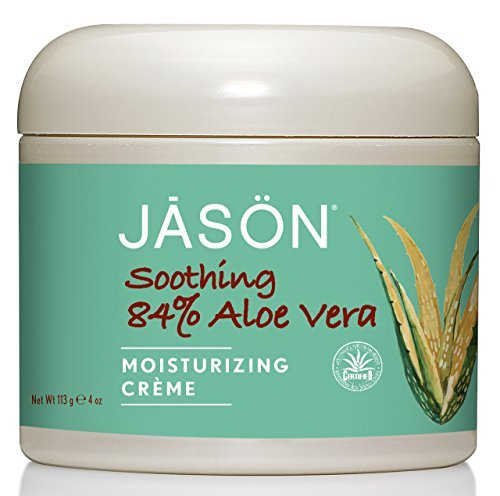 All Natural Moisturizing (Jason Pure Natural Moisturizing Creme, Soothing 84% Aloe Vera, 4 Ounce (Pack of 3))