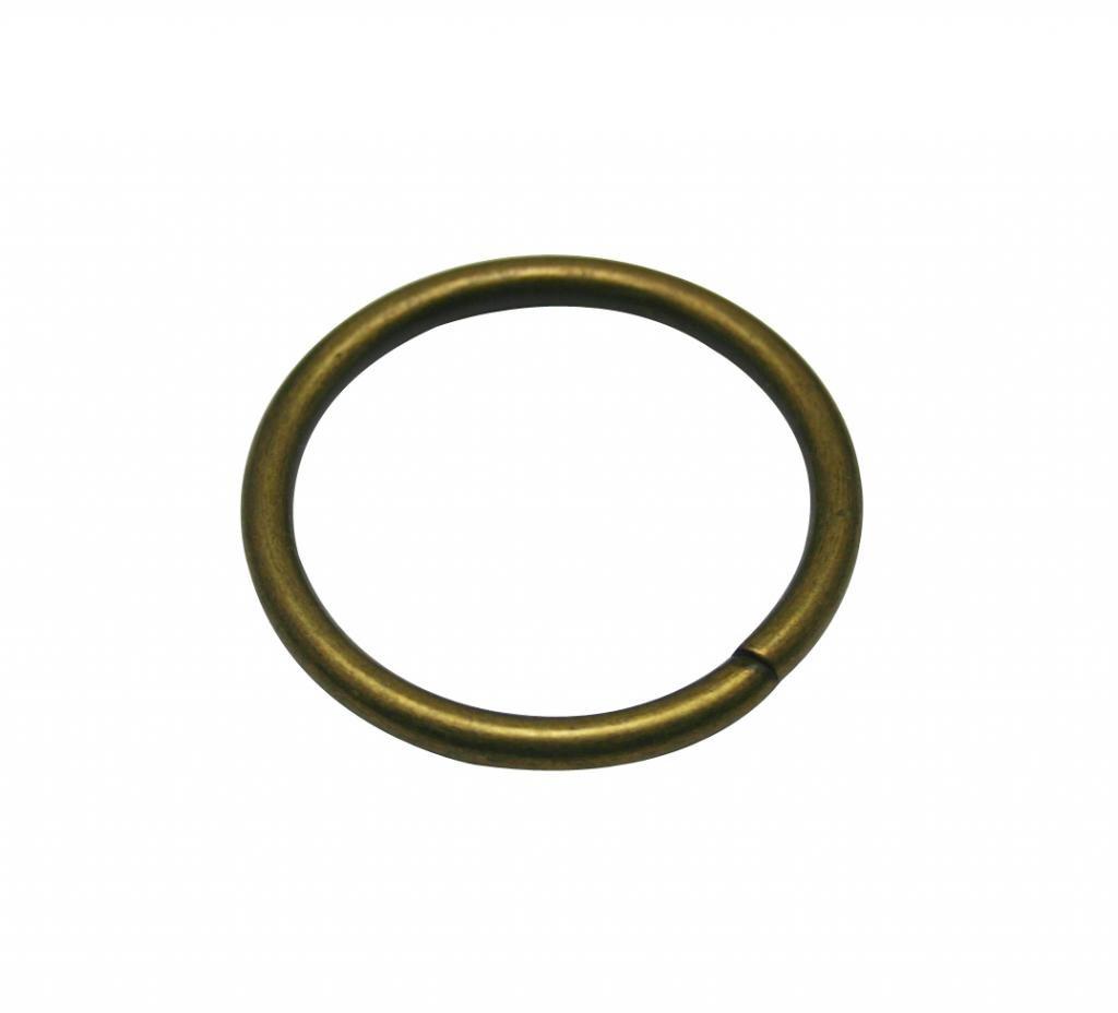 Generic 10 Piece Metal Bronze Annular Buckle Inside Loop Ring for Strap Keeper