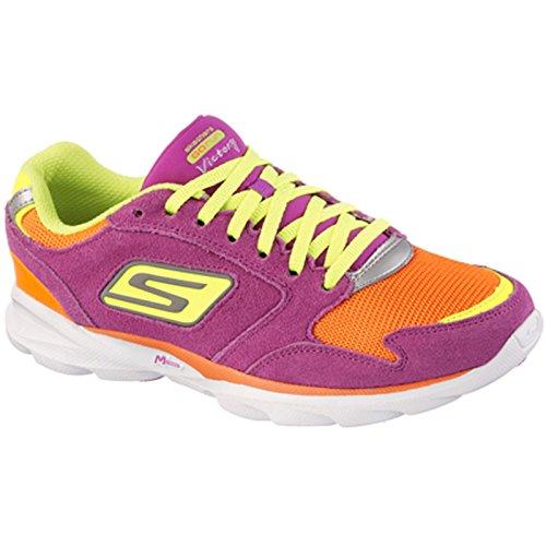 Zapatillas Victory de mujer Deportes Run Exterior de Skechers Go Sonic pieles Orange de otras Purple wZIqxt