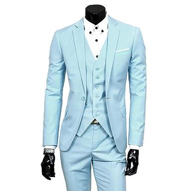 Dihope - Traje - para Hombre Azul Azul Claro 6X-Large ...